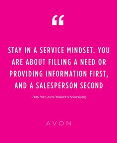 For more inspirational tips from Avon's President of Social Selling - Betty Palm, read the full Forbes Magazine feature!