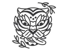 Traditional Korean Tiger illustration wild cat icon line lineart traditional tattoo tiger korean korea Flash Art Tattoos, Line Tattoos, Black Tattoos, Tiger Tattoo Design, Tiger Design, Tattoo Designs, Tiger Illustration, Traditional Tiger Tattoo, Traditional Tattoo Painting