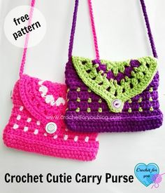 This Cutie Carry Purse would be great for girls. And perfectly fit to carry your phone and other small goodies when you go out.