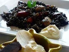 Arròs negre i allioli.con receta Gastronomia catalana