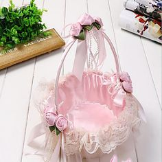 Romantic Wedding Decoration Petal Storage Baskets Ceremony Party Rose Flower Basket is personalized, see other cheap storage baskets on NewChic. Wedding Ceremony Flowers, Lace Wedding, Wedding Dresses, Bamboo Weaving, Cheap Flowers, Shabby Chic Crafts, Flower Girl Basket, Basket Decoration, Baby Decor