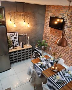 32 unordinary dining room design ideas with bohemian style 4 Cafe Interior Design, Industrial Interior Design, Interior Design Living Room, Living Room Decor, Bedroom Decor, Sweet Home, Deco Table, Dining Room Design, Home Furniture