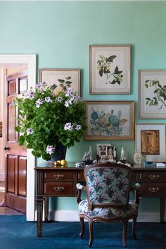 Effervescent scented pelargoniums makes staying at ones desk less onerous. - Holker Hall, Historical Country House in Britain | Cool Chic Style Fashion