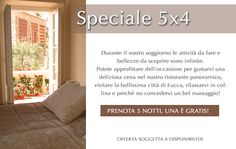 Are you planning a trip to Tuscany? Then why not take advantage of this special 5 x 4 night promotion.    When booking 5 nights, the 5th one in FREE!    Thanks to this exceptional offer you can enjoy all the amazing activities that the region has to offer.    Do not forget to experience a delicious meal in our panoramic restaurant within our hillside resort, enjoy a relaxing drink at our bar or wonder amongst our olive trees and vineyard in an amazing tuscan landscape.