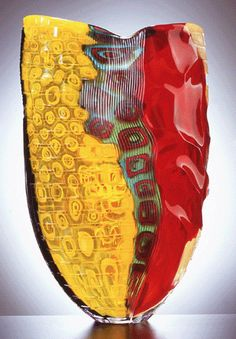 """Stromboli,"" 2004, designed and made by Lino Tagliapietra, blown glass with murrine; cut. @designerwallace"