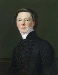 Portrait of a Young Man in a Hussar Jacket c.1800 - Austrian School....