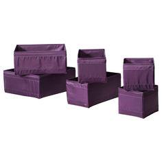 SKUBB Caja, juego de 6 - lila - IKEA
