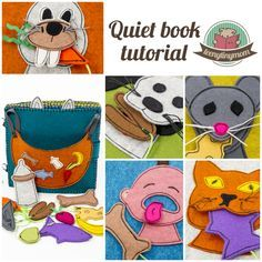 funny quiet book for toddlers made of felt activity book sewing a book tutorial…