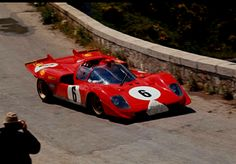 Nino Vaccarella and Ignazio Giunti's Ferrari 512S, Targa Florio 1970. They finished third.