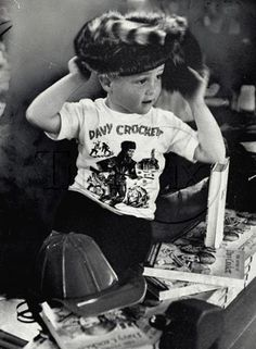 Davy Crockett Craze.....I had a coonskin hat! and loved my Davy Crockett record @ 5 years old!
