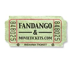 fandango and movietickets.com ticket stub
