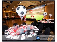 soccer themed bar mitzvah center piece - Bing Images