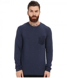 7 Diamonds - Cain Long Sleeve Shirt (Navy) Men's Long Sleeve Pullover