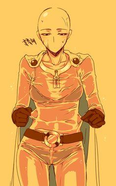 - One Punch Man - Saitama One Punch Man 3, Saitama One Punch Man, One Punch Man Manga, Dragon Ball, Genos X Saitama, Gender Bender, Guy Pictures, Overwatch, Fnaf
