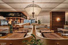 Uchi restaurant by Michael Hsu Restaurant Design, Restaurant Bar, Basket Lighting, Upscale Restaurants, Architectural Photographers, Glass Facades, Hospitality Design, Japanese Design, Custom Wall