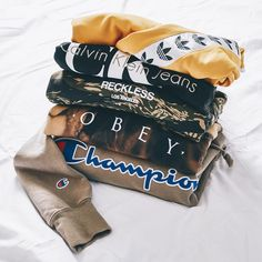 New men's Champion, Obey, Adidas, Calvin Klein, Young & Reckless Hoodies.