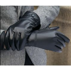 Foxter Bike Wear Mens Genuine Leather Fashion Kevlar Cut Resistance Gloves Driving Police Dress Winter Work Gloves
