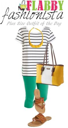 Plus Size Outfit of the Day – Kelly Green and Stripes. I'm looking for Kelly green pants. The only green I find in my size is a gross army or pale mint green