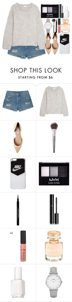 """""""school-winter"""" by lipsy-look ❤ liked on Polyvore featuring True Religion, Chloé, Steve Madden, NIKE, NYX, Givenchy, Chanel, Boucheron, Essie and Topshop"""