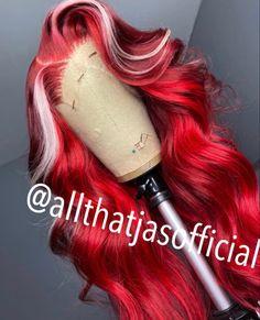 Black Girl Braided Hairstyles, Pretty Hairstyles, Baddie Hairstyles, Weave Hairstyles, Creative Hair Color, Cute Hair Colors, Hair Laid, Lace Hair, Aesthetic Hair