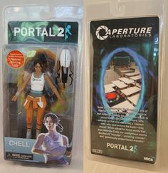 NECA Portal Chell figure Box Spin