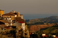 Catanzaro, Italy  (Capital of Calabria and view of the Ionian Sea)