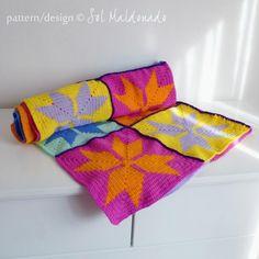 Crocheting: Geometric baby blanket tapestry crochet