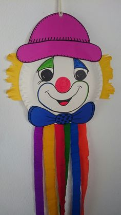Clown Party, Paper Plate Crafts, Paper Plates, Diy And Crafts, Crafts For Kids, Party Favors, Ronald Mcdonald, Disney Characters, Fictional Characters
