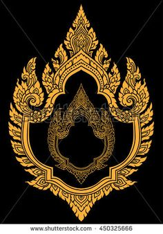 Border design , Thai Art , with gold and black Border Design, Pattern Design, Thai Art, 3d Art Drawing, Art Drawings, Thai Design, Thailand Art, Magic Tattoo, Indonesian Art