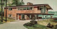 156 VACATION HOMES HOME PLANNERS RICHARD B POLLMAN 1971 - $29.99 : PopuluxeBooks, Retro Info For Your Mod Style