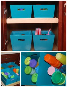 Keeping kids dishes organized and at their level so they can help! Life with the Little R's: A new {Kids Cabinet}