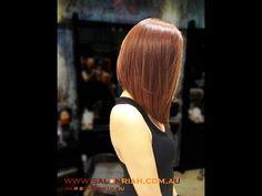 Kenneth Siu's Haircut - Concave Long Bob - YouTube