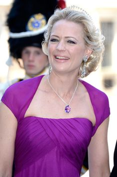 Princess Anna of Bavaria attends the Swedish Royal weddingat The Royal Palace on 8  June 2013 Royalty