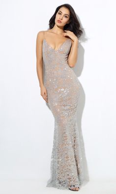 To find out about the LOVE&LEMONADE Backless Zip Back Sequin Mesh Maxi Slip Dress at SHEIN, part of our latest Dresses ready to shop online today! Maxi Gowns, Prom Dresses, Gown Dress, Long Dresses, Wedding Dresses, Spaghetti, Silhouette, Indie, Floor Length Dresses