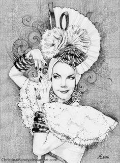 Carmen by *ChristinaMandy on deviantART - Carmen Miranda drawing - #CelebrityArt #Art