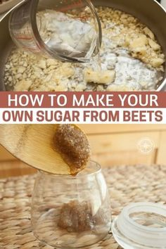 With this homesteading project you will learn how to make your own sugar. This project is really easy to do and could save you money on your groceries throughout the year. Sugar would be a great bartering item to have stored too. Emergency Food, Survival Food, Survival Hacks, Survival Skills, Survival Quotes, Homestead Survival, Emergency Preparedness, Make Your Own, Make It Yourself