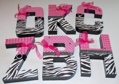 letters for a zebra bedroom