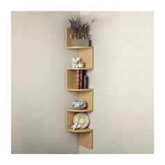 Corner Shelf, Brown ($40) ❤ liked on Polyvore featuring home, furniture, storage & shelves, bookcases, corner display shelves, display shelves, book shelves, cd shelves and corner display shelf
