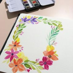 Love the bright colours of my @prima_watercolor tropical ☺️ heard so much about it that I had to try it for myself.
