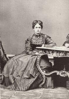 Archduchess Maria Theresa  of Austria- Este, later Queen of Bavaria. Late 1860s