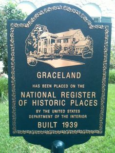 Graceland National Register Marker It was the anniversary of Elivis' death and the place was insane...Some SERIOUS Elvis fans out there!
