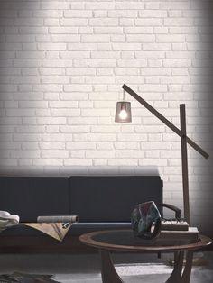Koziel - Tapeta imitująca białą cegłę 10m