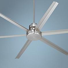 """72"""" Mondo Brushed Nickel Ceiling Fan. $450"""