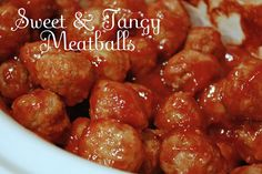 sweet & tangy meatballs...perfect for pot-lucks & holiday get-togethers!