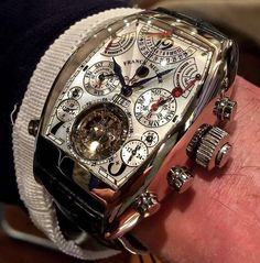 One intense timepiece 👀 The Franck Muller Aeternitas Mega 4 is the worlds most complicated wrist watch! Boasting 36 complications and Best Watches For Men, Amazing Watches, Fine Watches, Luxury Watches For Men, Beautiful Watches, Cool Watches, Black Watches, Unique Watches, Wrist Watches