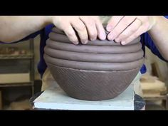 CERAMIC : How to make handmade pot - YouTube