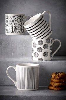 Cups & Mugs | Stacking Mugs & Coffee Cup Sets | Next Coffee Cup Set, Cool Mugs, China Mugs, Next Uk, Fine China, Mugs Set, Tea Cups, Tableware, Uk Online