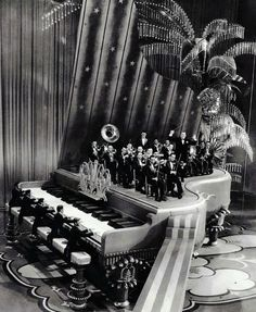"""Giant piano set from King of Jazz's 'Rhapsody in Blue' production number"" 