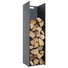Tall, Upright, Log Holder made from Steel by Stovax. The Stovax Log Holders available in three sizes, small, medium and Tall log holder. Store Fire wood neatly next to the Fireplace or Wood stove. Firewood Holder, Firewood Storage, Log Store Indoor, Solid Fuel Stove, Log Holder, Wood Store, Wood Basket, Log Burner, Fireplace Accessories