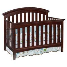 My baby girls crib! It is much darker in person though.. like chocolate dark!